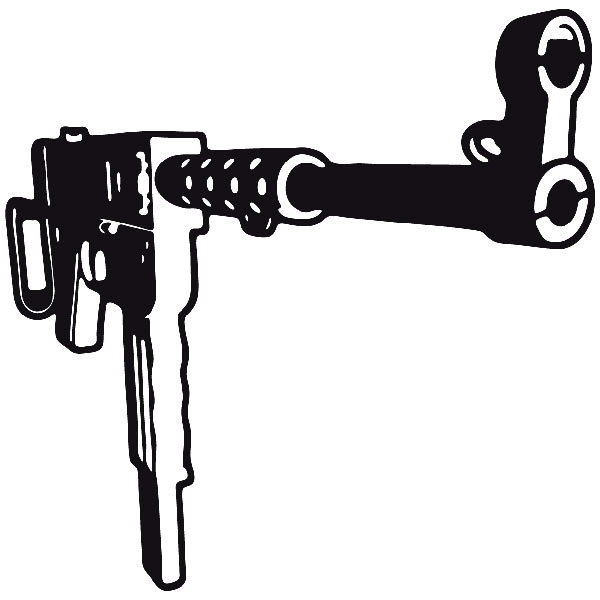 Car and Motorbike Stickers: Weapon 9