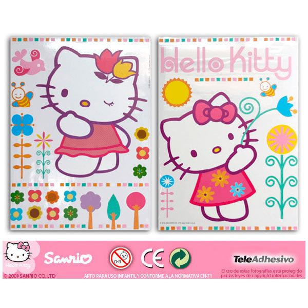 Stickers for Kids: hello kitty 2 68x96 cm