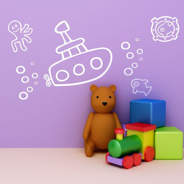 Stickers for Kids: Submarino