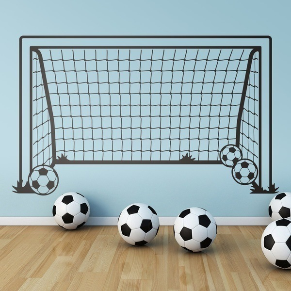 Stickers for Kids: Football goal