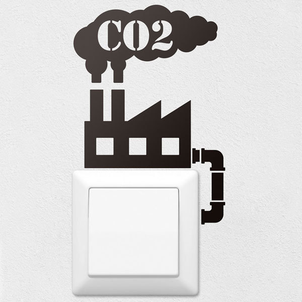 Wall Stickers: Factory CO2