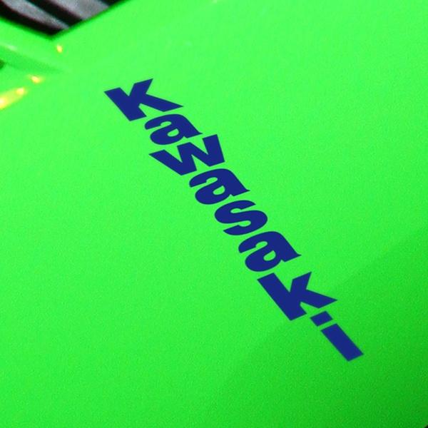 Car and Motorbike Stickers: Kawasaki vertical