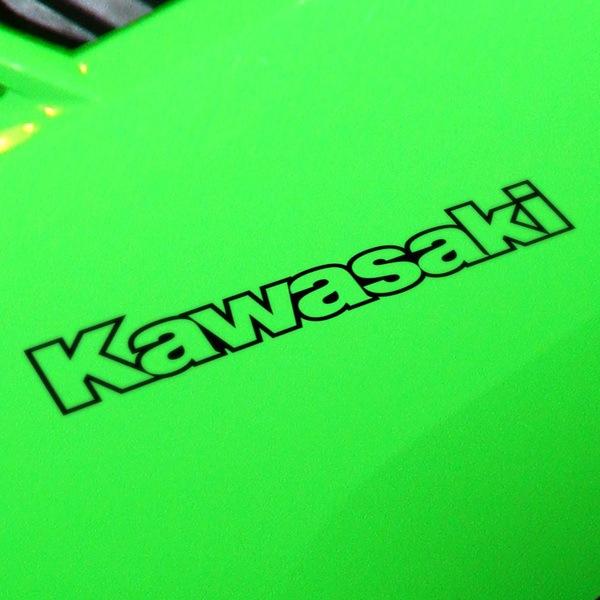 Car and Motorbike Stickers: Kawasaki contorno