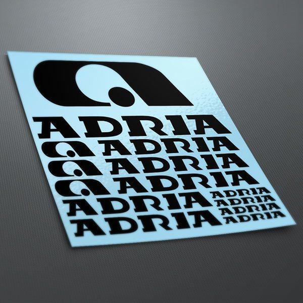 Car and Motorbike Stickers: Kit Adria 1