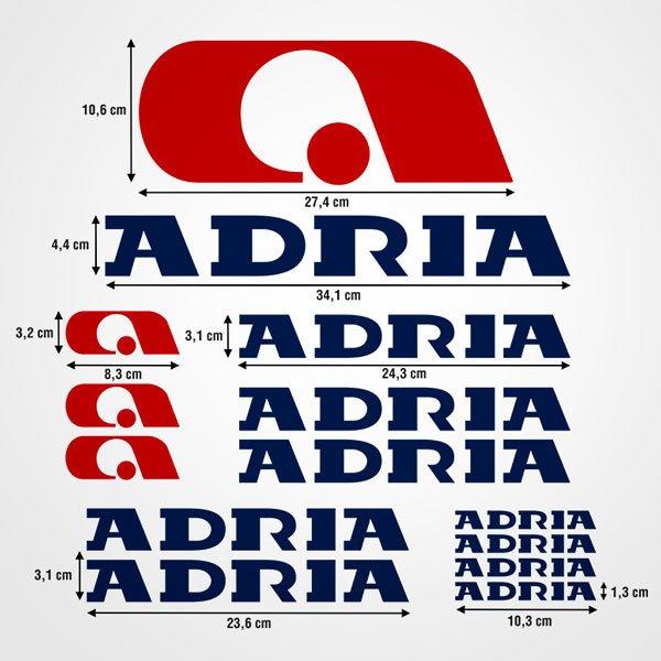 Car and Motorbike Stickers: Kit Adria 2