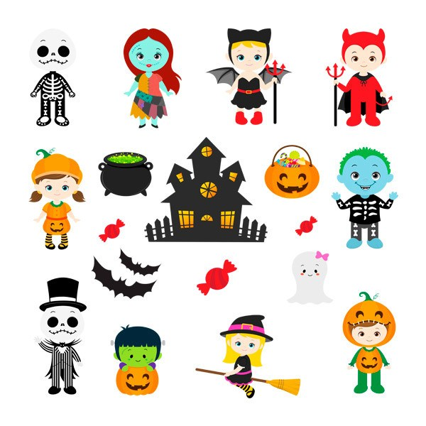 Wall Stickers: Kit Halloween