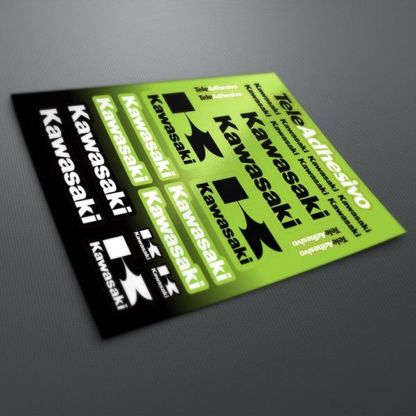 Car and Motorbike Stickers: Kawasaki kit color