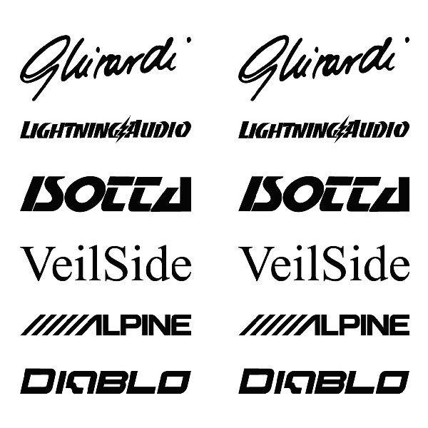 Car and Motorbike Stickers: Kit tuning 16