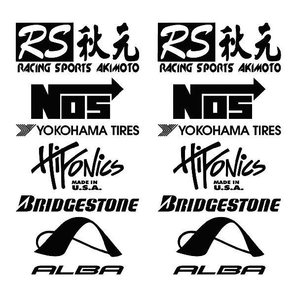 Car and Motorbike Stickers: Kit tuning 18
