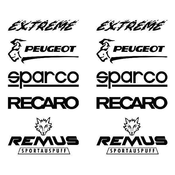 Car and Motorbike Stickers: kit tuning 24