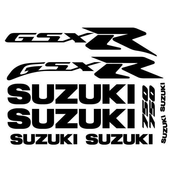 Car and Motorbike Stickers: GSX750R 2000 Amarillo