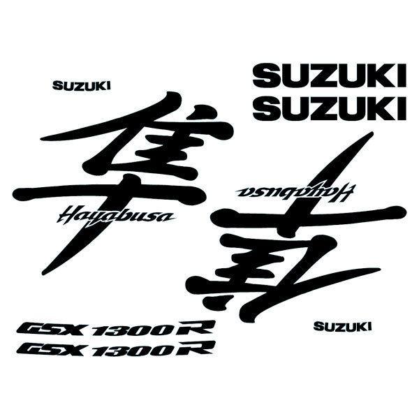 Car and Motorbike Stickers: Hayabusa 1999-00 logo set
