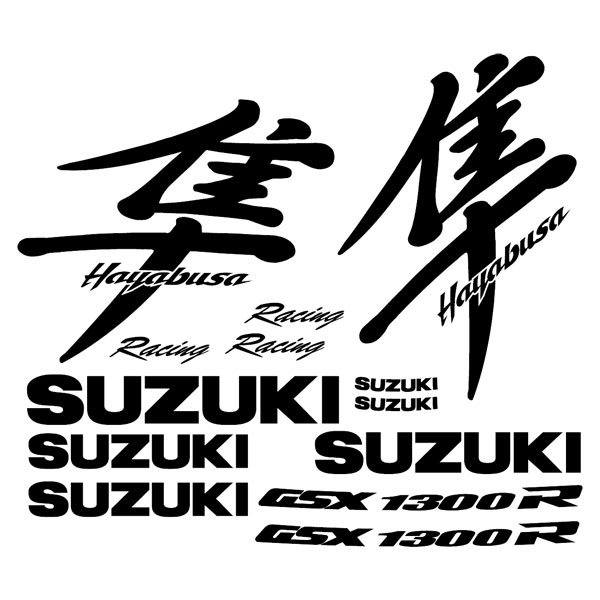 Car and Motorbike Stickers: Hayabusa 1990-00 logo set