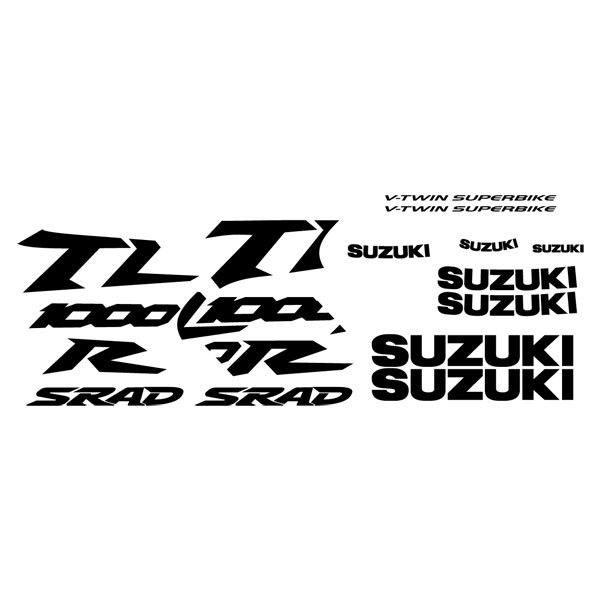 Car and Motorbike Stickers: TL1000R 1998 yelow bike