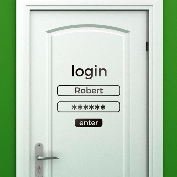 Wall Stickers: Custom login
