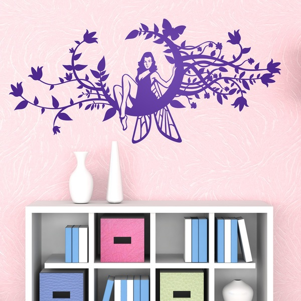 Wall Stickers: Fairy on the moon