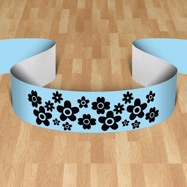 Wall Stickers: Cenefa daisy