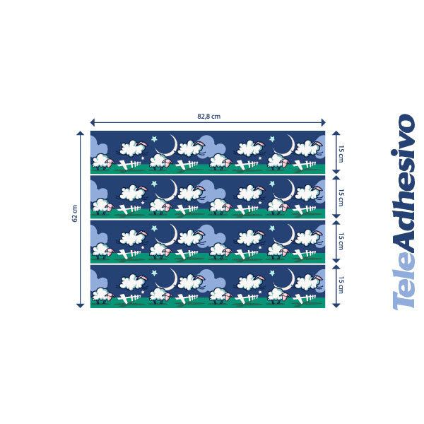 Stickers for Kids: sheep valance