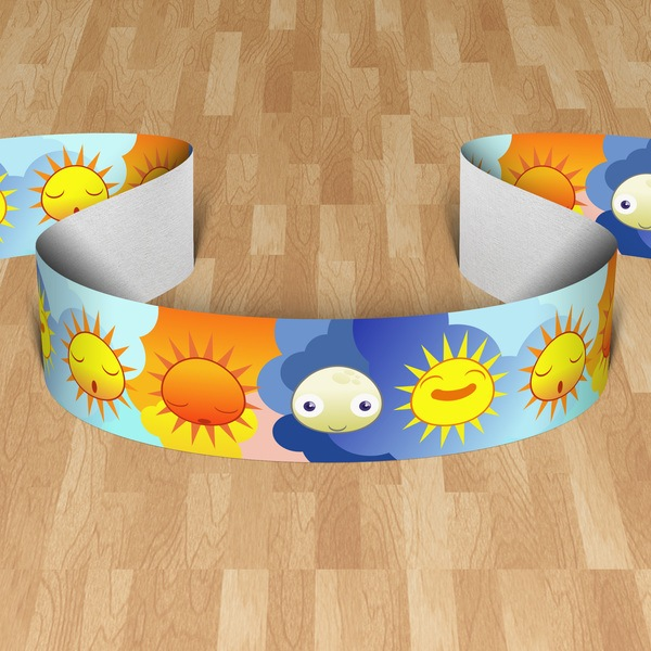 Stickers for Kids: Skiting board suns and moon baby