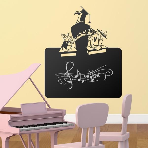 Stickers for Kids: Blackboard School