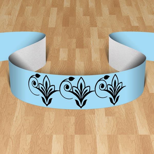 Wall Stickers: cenefa flor