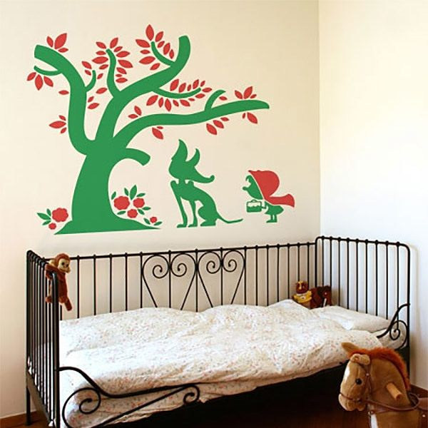 Wall Stickers: Little Red Riding Hood