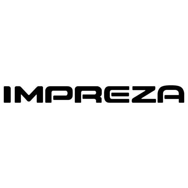 Car and Motorbike Stickers: Subaru Impreza