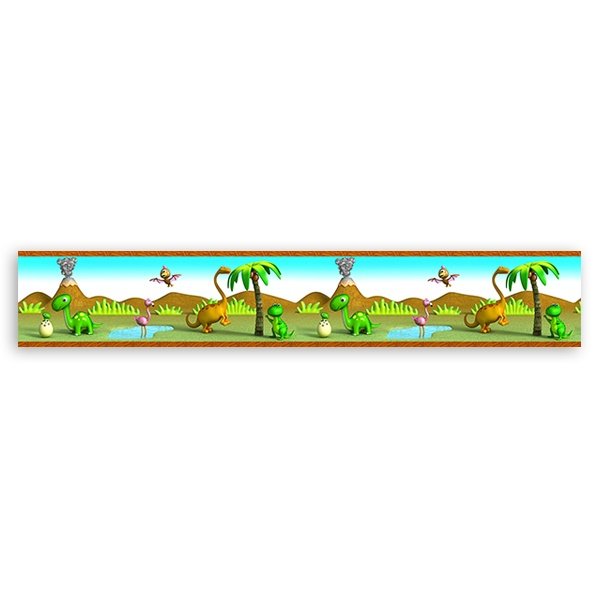 Stickers for Kids: Decorative border Dinosaurs