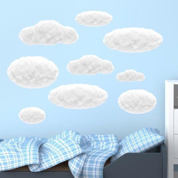Stickers for Kids: White clouds kit