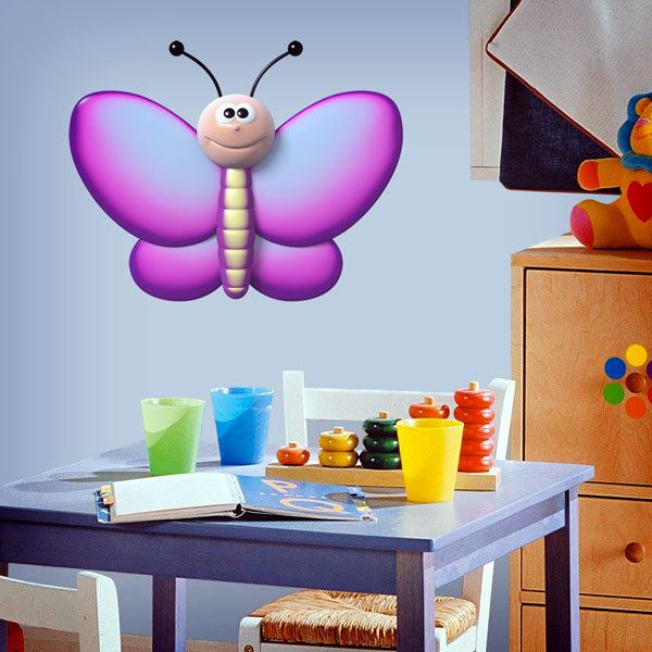Stickers for Kids: violet butterfly