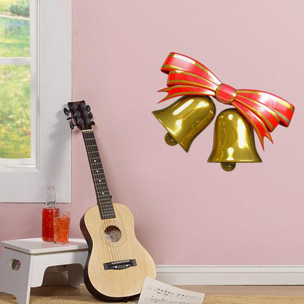 Wall Stickers: Bell and red bow