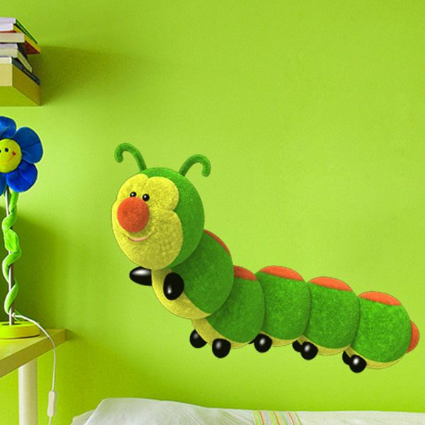 Stickers for Kids: Worm Plush