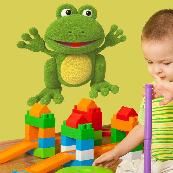 Stickers for Kids: Frog plush