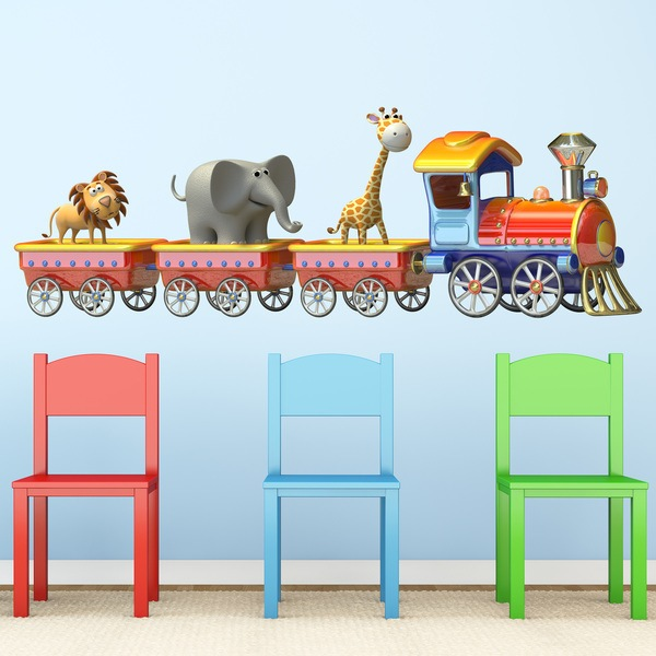 Stickers for Kids: The animals train