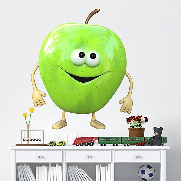 Stickers for Kids: apple green