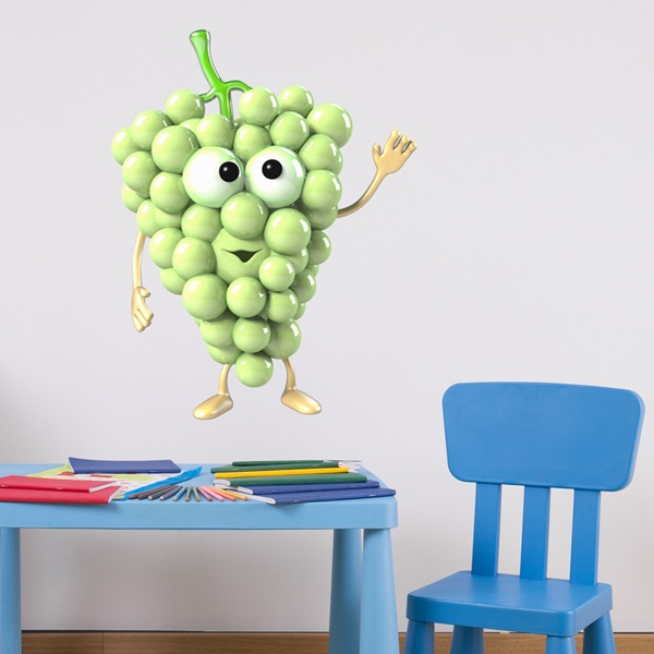 Stickers for Kids: green grape