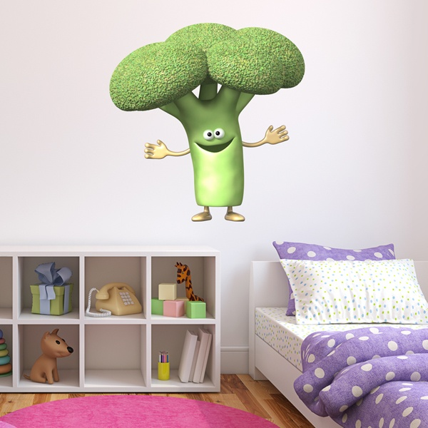 Stickers for Kids: broccoli