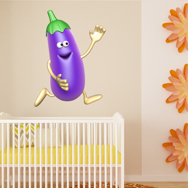 Stickers for Kids: Eggplant