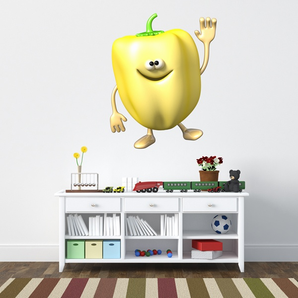 Stickers for Kids: Yellow pepper