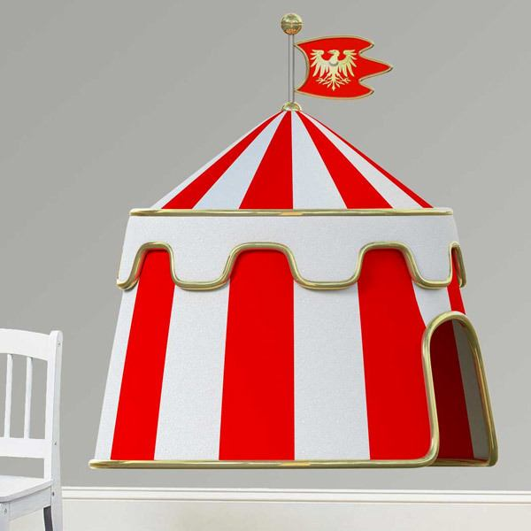 Stickers for Kids: Battle tent