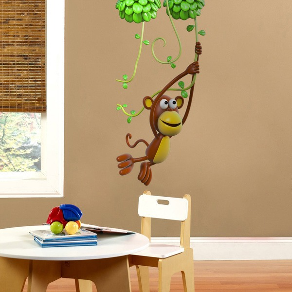 Stickers for Kids: Monkey playing on the vine
