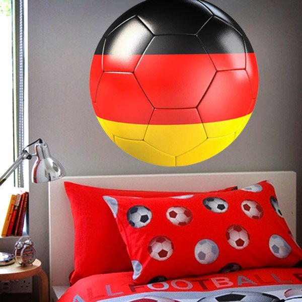 Wall Stickers: Soccer ball flag of Germany