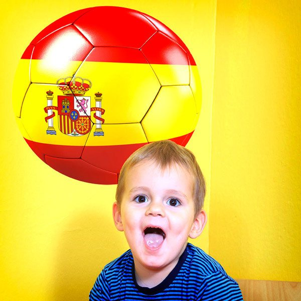 Wall Stickers: Spain Flag Soccer Ball