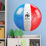 Wall Stickers: Soccer ball flag of France