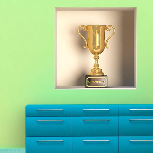 Wall Stickers: Niche Champion Trophy