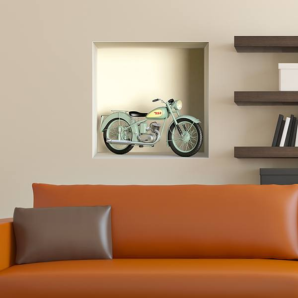 Wall Stickers: Niche classic BSA motorcycle