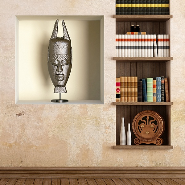 Wall Stickers: African mask niche 2