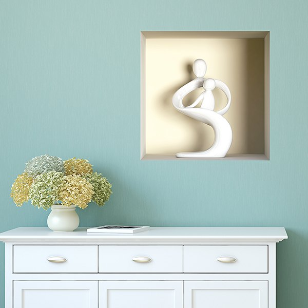 Wall Stickers: Statue of mother and son niche 2