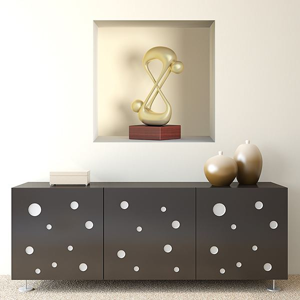 Wall Stickers: Abstract sculpture niche