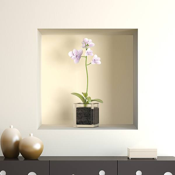 Wall Stickers: Niche orchids vase